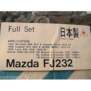 Mazda 616 626 B1600 Savanna Capella Full Engine Gasket Set UB NA VB  1969-1975