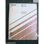 Dodge Challenger Plymouth Sapporo 1982 FACTORY Service Manual  Used