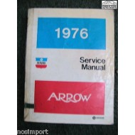 Plymouth Arrow 1976 FACTORY Service Manual  Used