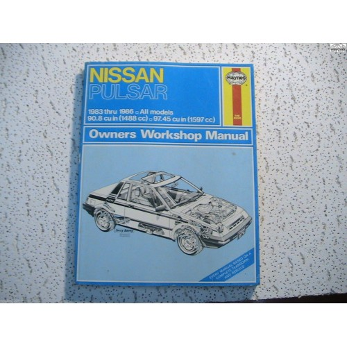 nissan pulsar haynes repair manual 1983 1986 rh nosimport com Tractor Service Manuals Chilton Manuals