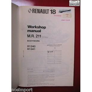 Renault R18 Body Repair Manual FACTORY R1340  R1341 Used