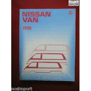 Nissan Van 1990 Manual FACTORY Book  Used