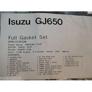 Isuzu ELF 150 Diesel C-190     FULL Engine Gasket Set     1981