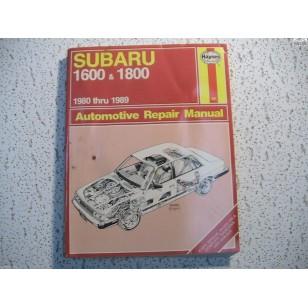 Subaru  Haynes Repair Manual  1600  1800  1980 - 1989
