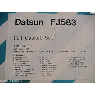 Datsun Nissan 810 240KT  L24E   Full Engine Gasket Set  1978-1979