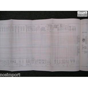 Nissan Stanza Sedan FACTORY Wiring Book 1988 Used. BIG