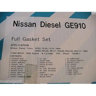 Datsun Nissan DIESEL 6-Cylinder PT PT Truck Bus FULL Engine Gasket Set 1969-1975