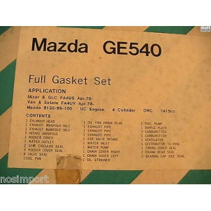 Mazda 323 Mizer GLC 1415cc     FULL Engine Gasket Set    UK only  1978