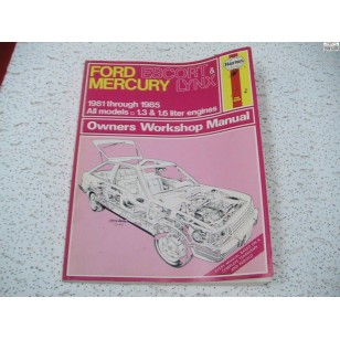 Ford Escort  Mercury Lynx Haynes Repair Maunal 1981 - 1985