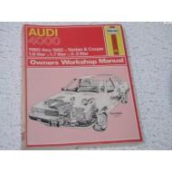 Audi 4000 Haynes Repair Manual 1.6 1.8 2.2 5-cylinder 1980-1982