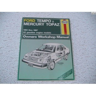 Ford Tempo  Mercury Topaz Haynes Repair Manual  1984-1987
