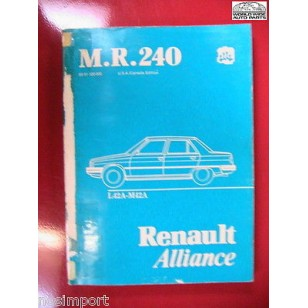 Renault Aliance Mechanical FACTORY Repair Manual L42 M42 Used