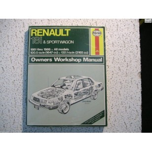 Renault 18i and Sportwagon Haynes Repair Manual 1647cc & 2165cc  1981-1986