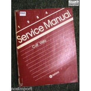 Dodge Colt VISTA 1984 FACTORY Service Manual Used
