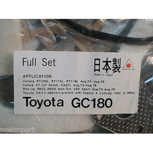 Toyota Celica Corona Pickup Hilux   20R    FULL Engine Gasket Set   1975-1978