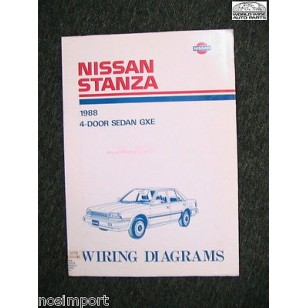 Nissan Stanza Sedan FACTORY Wiring Book 1988 Used. BIG