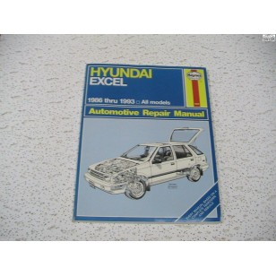 Hyundai Excel  Haynes Repair Manual  1986-1993